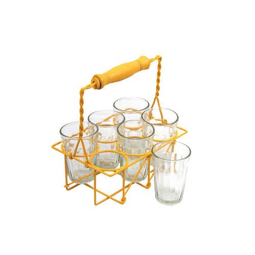 VarEesha Yellow 6-Pieces Solid Glass Glasses Set