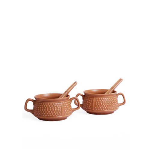 VarEesha Brown Textured Ceramic Set