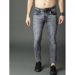 Roadster Men Navy Blue Skinny Fit Mid-Rise Mildly Distressed Stretchable Jeans