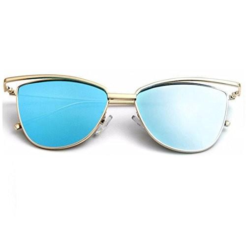 RAZMAZ Designer Cat Eye Pointed Twin Frame Fashion Sunglasses