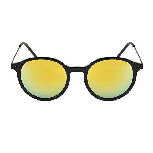 Royal Son Black Round Unisex Sunglasses