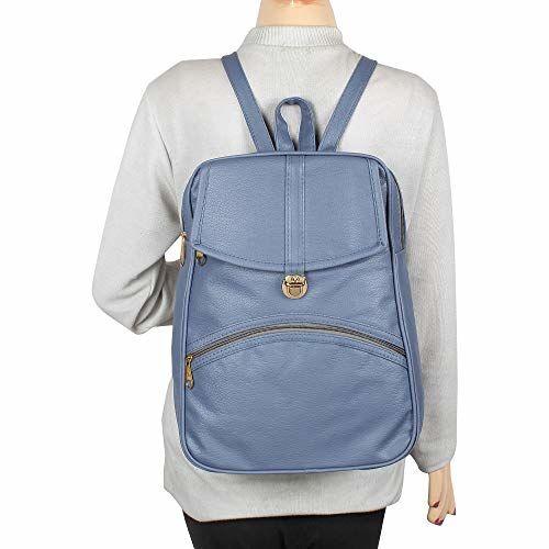 Rajni Fashion Blue PU Girls Stylish Women's Backpack