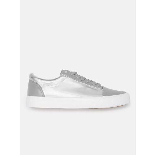 Kook N Keech Women Grey & Silver Sneakers
