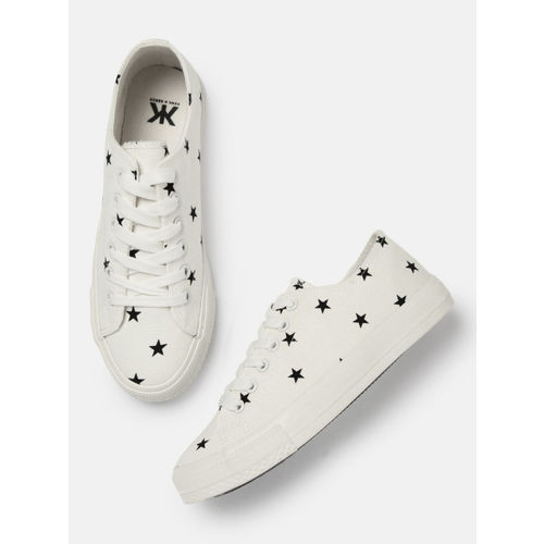 Kook N Keech  White Synthetic Lace Up Casual Shoes