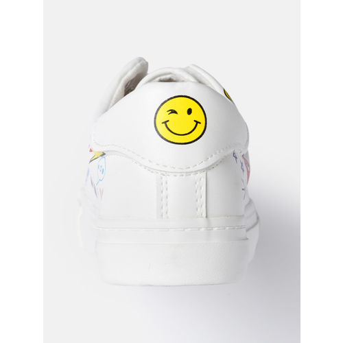 Kook N Keech Women White Sneakers
