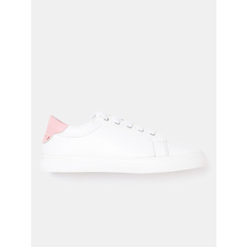 Kook N Keech White Synthetic Lace Up Sneakers