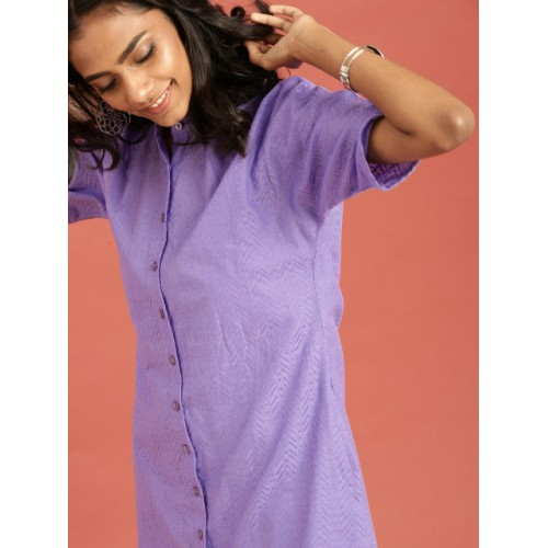 Taavi Purple South Woven Legacy A-Line Dress with Pockets