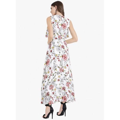 Zink London White Printed Maxi Dress