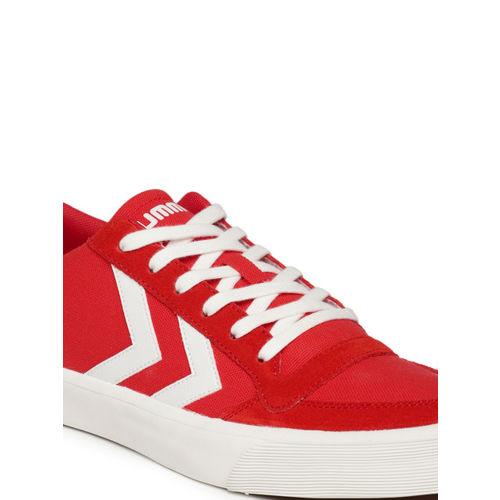 hummel Unisex Red Sneakers