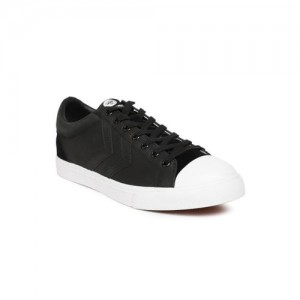 hummel Unisex Black Baseline Court Leather Sneakers
