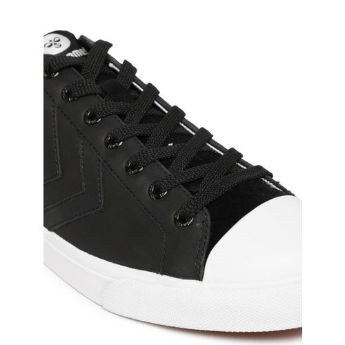 hummel Unisex Black Baseline Court Leather Sneakers