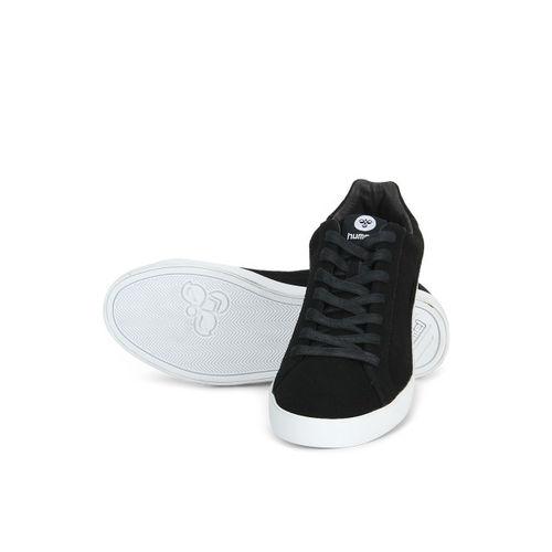 hummel Unisex Black Suede Cross Court Sneakers