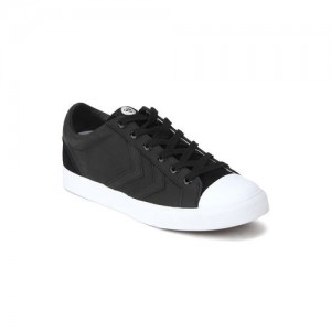 hummel Unisex Black Leather Baseline Court Sneakers