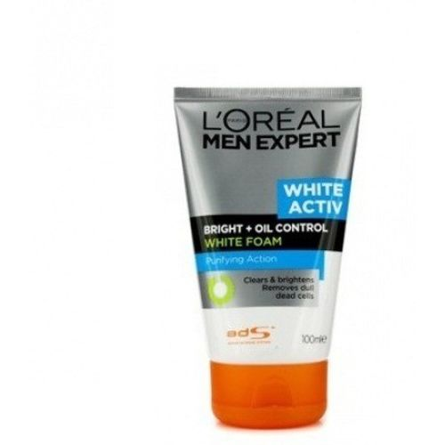 L'Oreal Paris Men Expert White Active Bright+Oil Control Foam Face Wash(100 ml)