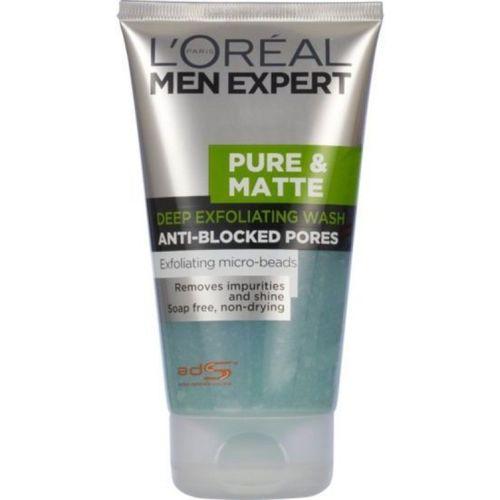 L'Oreal Paris Men Expert pure & Matte deep exfoliating Anti Blacked Pores Face Wash(150 ml)