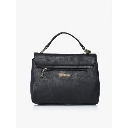 Addons Black PU Satchel Bag