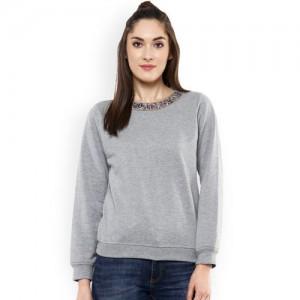 Sassafras Full Sleeve Solid Women's Sweatshirt