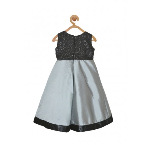 pspeaches Girls Grey Embellished Fit and Flare Dress