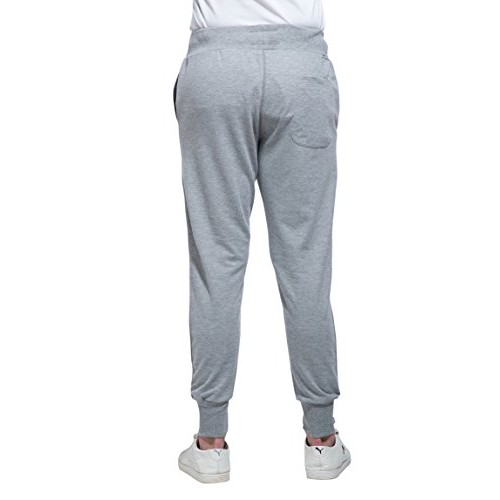Alan Jones Grey Cotton Slim Fit Joggers