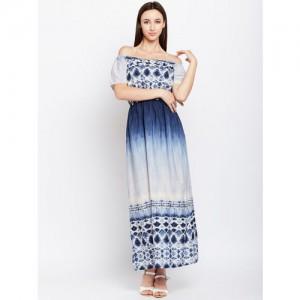 Oxolloxo Women Blue Dyed Maxi Dress