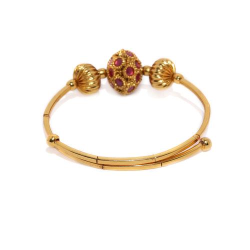 Zaveri Pearls Gold-Toned Kada Bracelet