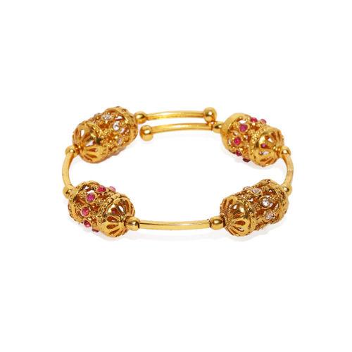 Zaveri Pearls Women Gold-Toned Kada Bracelet