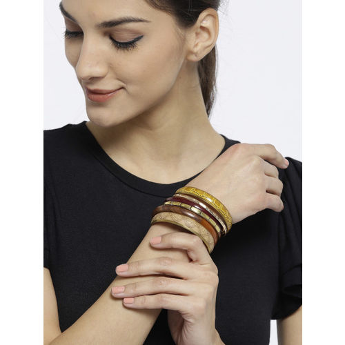 Accessorize Brown Metal Bangle-Style Bracelet