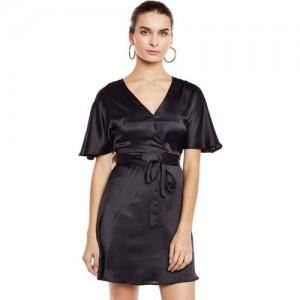 Oxolloxo Black Polyester A-line Dress