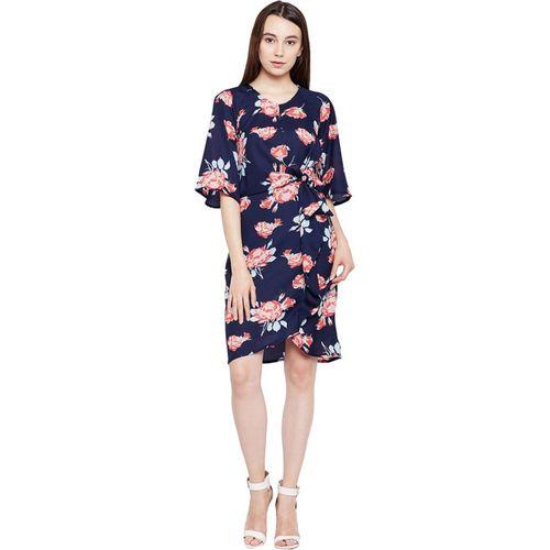 Oxolloxo Women Wrap Blue Dress