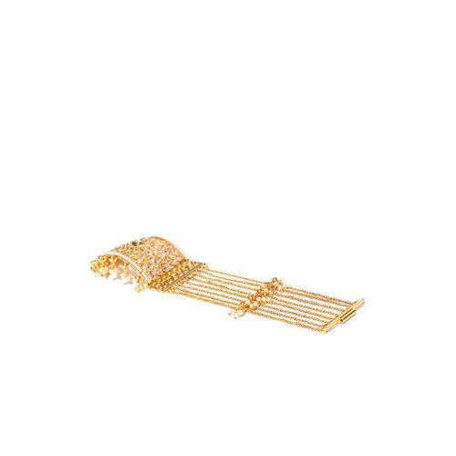 Priyaasi Gold-Plated Kundan-Studded Handcrafted Multistranded Bracelet