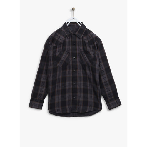Gini and Jony Black Checked Regular Fit Casual Shirt