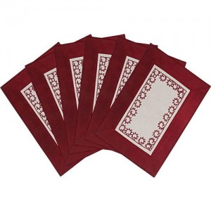 Saral Home Rectangular Pack of 6 Table Placemat(Maroon, Cotton)