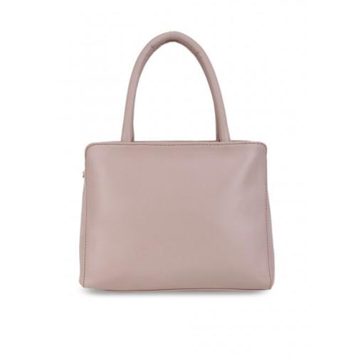 yelloe Pink Polyurethane Solid Handheld Bag