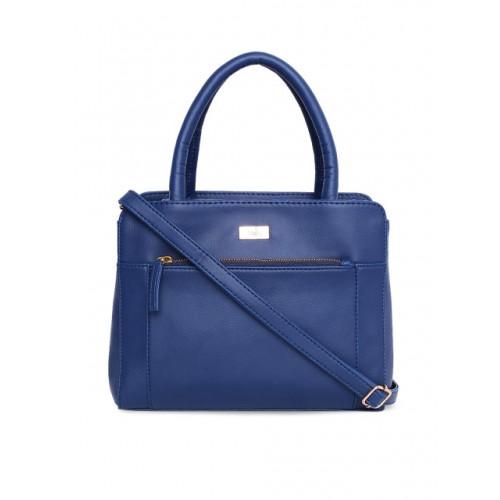 yelloe Blue Polyurethane Solid Handheld Bag