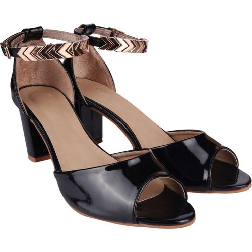 Shoetopia Women Black Heels