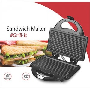 Lifelong Sandwich Maker (115 Griller Plate) Grill, Toast(Black)