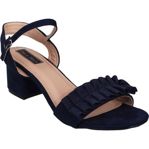 Flat n Heels Women Navy Heels