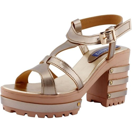 SHOFIEE Women GOLD Heels