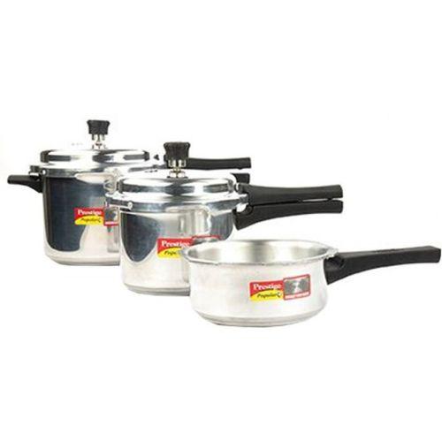 Prestige Popular Plus 2 L, 3 L, 5 L Pressure Cooker with Induction Bottom(Aluminium)
