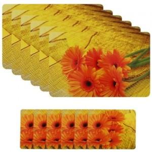 Shubheksha Rectangular Pack of 12 Table Placemat(Multicolor, PVC)