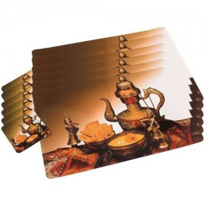 SHUBHEKSHA Rectangular Pack of 12 Table Placemat(Multicolor, PVC)