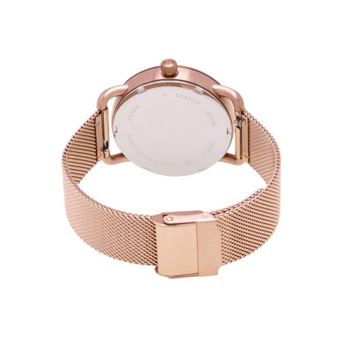 Fossil Women Rose Gold Analogue Watch ES4333I