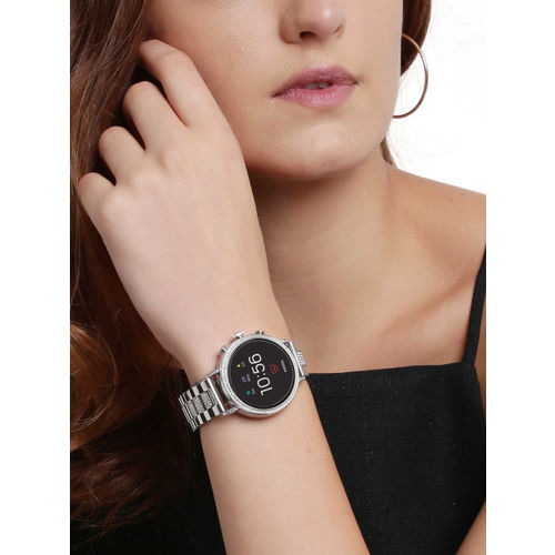 Fossil Q Venture HR Silver Smart Watch FTW6013