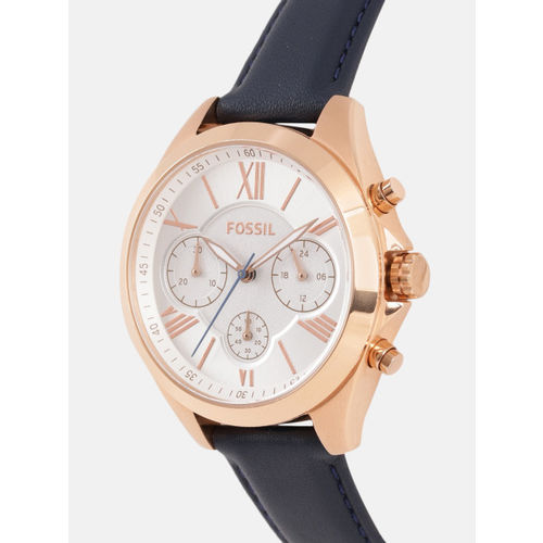 Fossil Women Silver-Toned Analogue Watch BQ3121