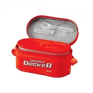 Milton Red Plastic Double Decker 3 Container Lunch Box