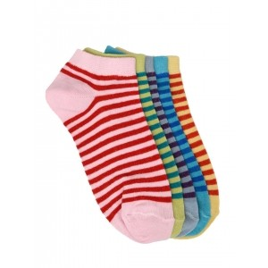 MARC Multicoloured Striped Ankle-Length Women's Socks