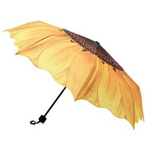 Umbrella Yellow Polyester Printed Umbrella Parasol