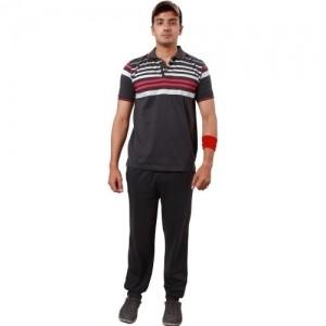 Colors & Blends Men's Striped Multicolor Top & Pyjama Set