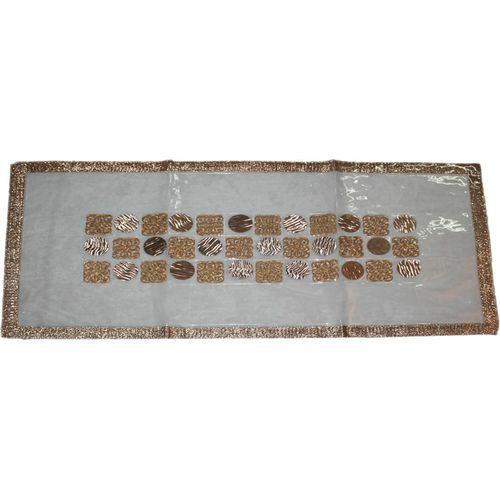 Aransa Gold 42 cm Table Runner(Linen)