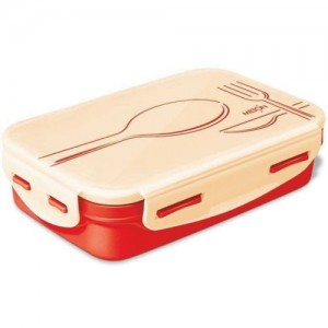 Milton Steely Tiffin Small Orange 525 ml 2 Containers Lunch Box(525 ml)
